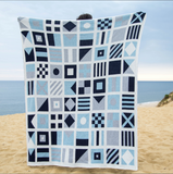 Nautical Flags Blanket in Blue