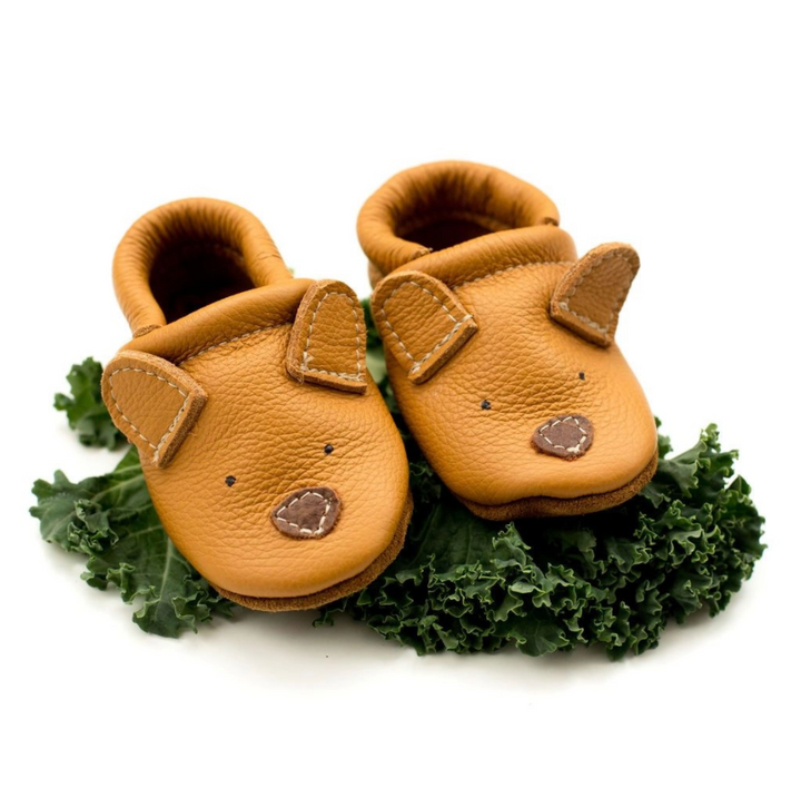 Honey Bear Cute Critters Leather Baby Shoes - 6m (2)