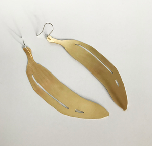 Bronze Banana Earrings Large