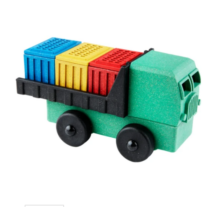 Eco-Friendly Sawdust Toy Cargo Truck