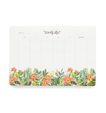Honeydew Weekly Desk Pad