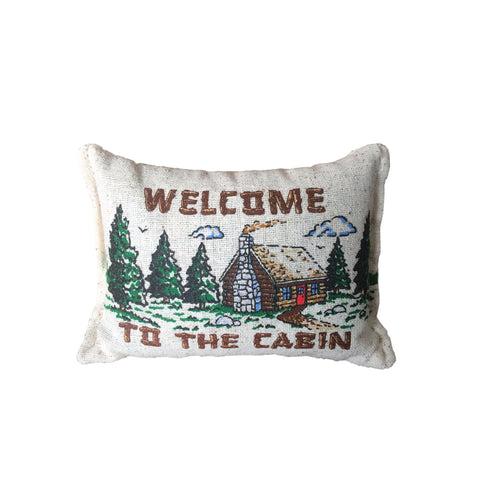 Welcome to the Cabin Mini Balsam Pillow
