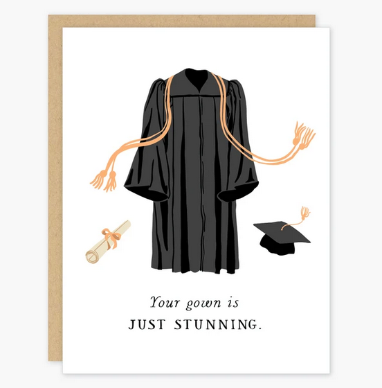 Stunning Gown Graduation Card - PO4
