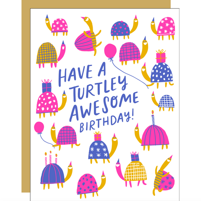 Turtley Awesome Birthday Card - EP5