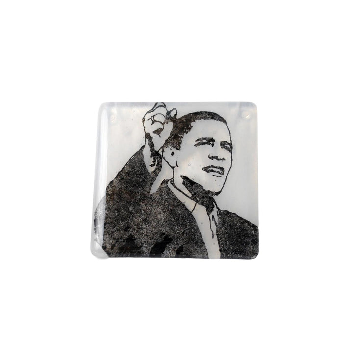 Barack Obama Glass Coaster