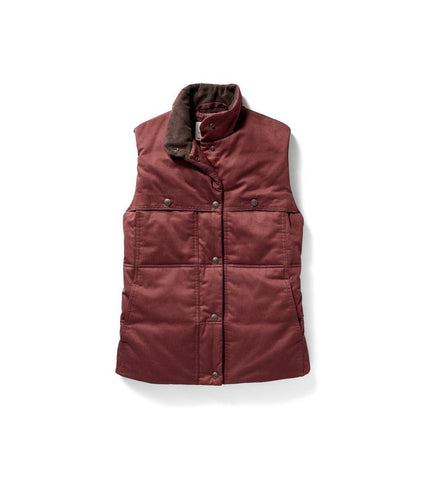 Women's Quilted Westward Vest Burnt Red