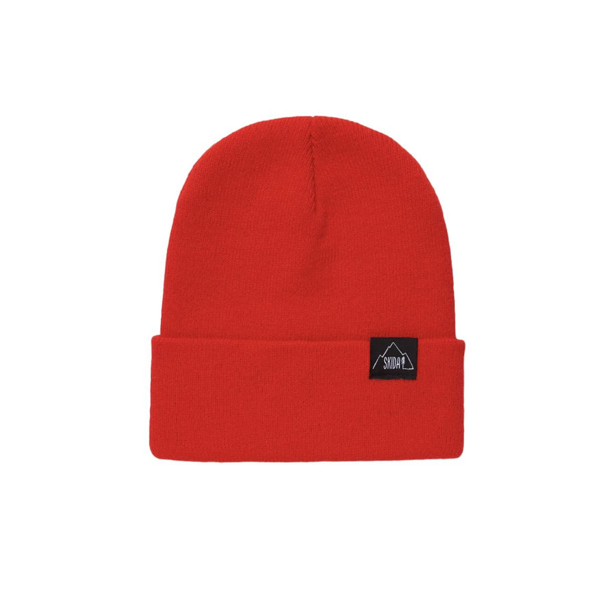 SKIDA USA Knit Ridge Beanie - Bright Red