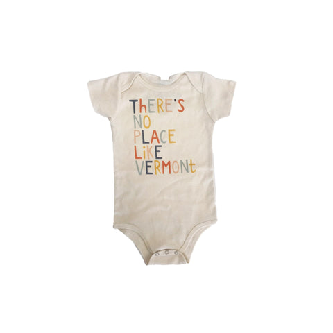 There's No Place Like Vermont Organic Cotton Baby Bodysuit