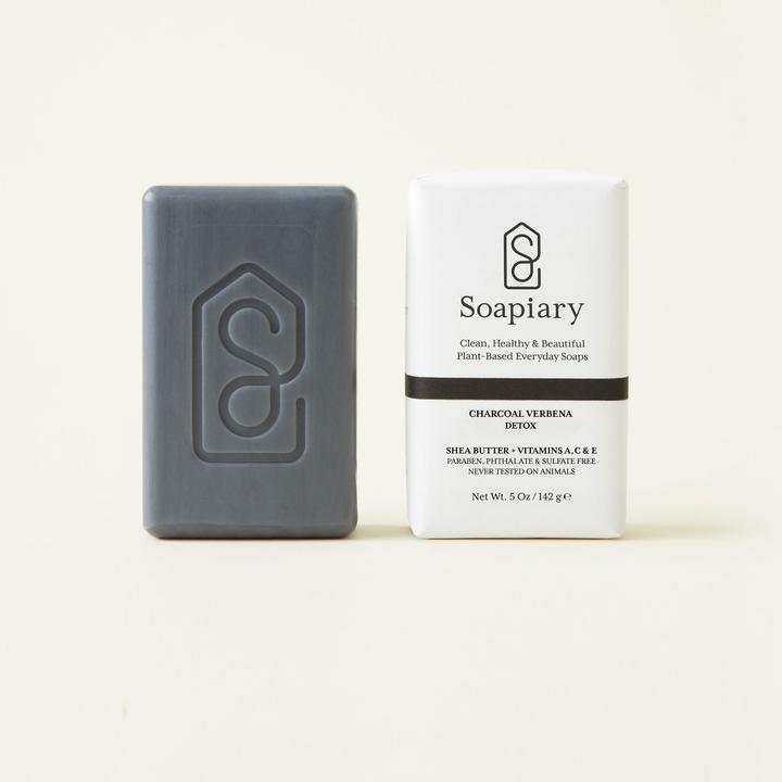 Soapiary Bar Soap Charcoal Verbena Detox