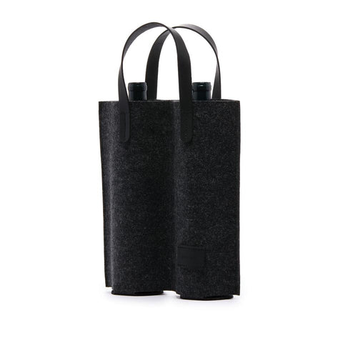 Cozy Felt 2-Bottle Wine Carrier