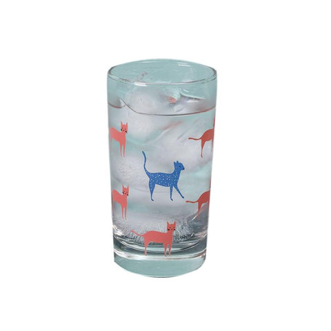 City Collage Cats Glass - 7oz