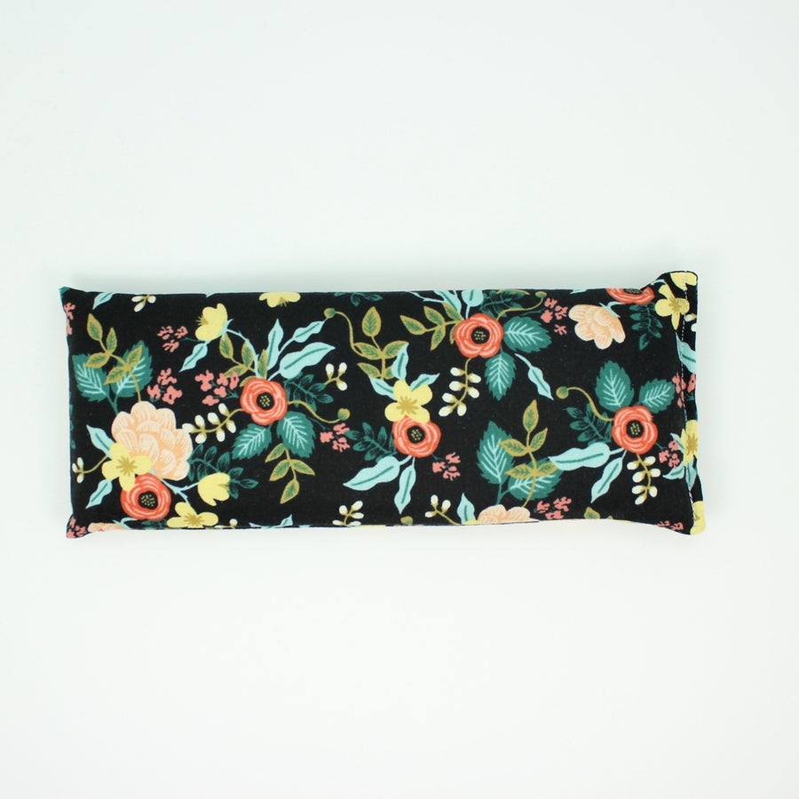 Lavender Eye Pillow - Black Floral