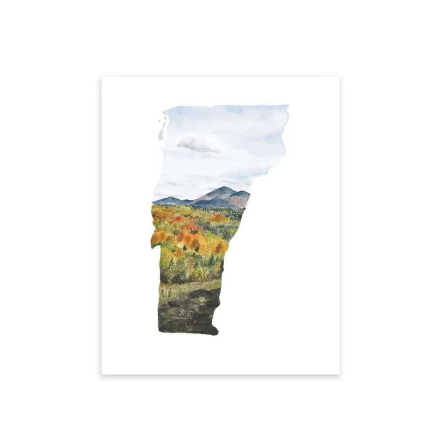 Vermont State Print - 8x10