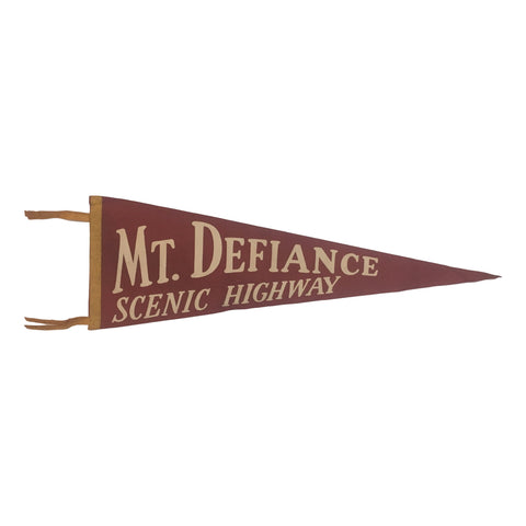 Vintage Mt. Defiance Scenic Highway Pennant