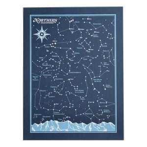 "Northern Hemisphere Star Chart 18"" by 24"""