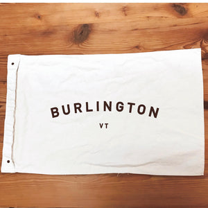 Burlington VT Canvas Flag