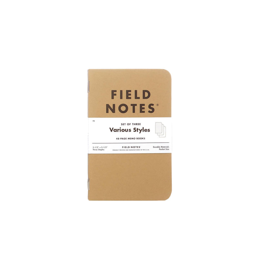 Field Notes Original Kraft Mixed 3 Pack