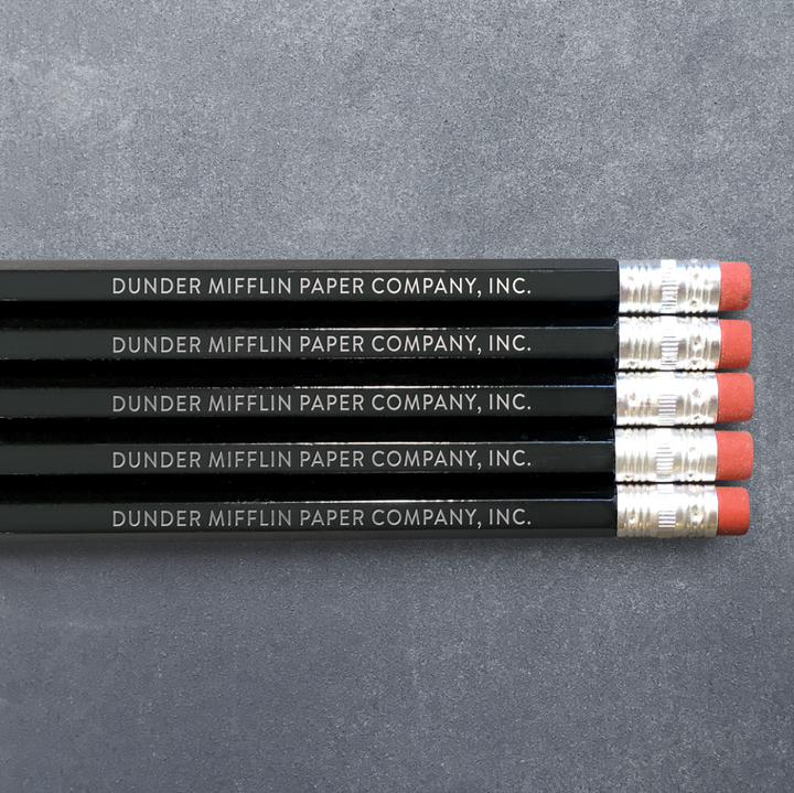Pencil Pack of 5 - Dunder Mifflin