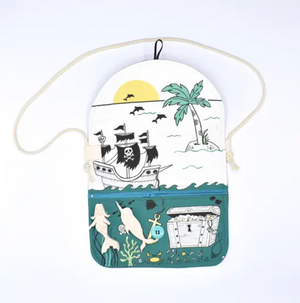 Cotton Mermaid Purse with Wooden Toys