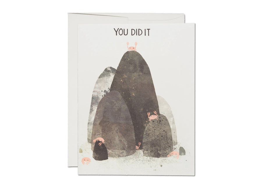 You Did It Crabs King of the Mountain Card - RC4
