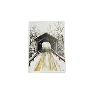 Brook Covered Bridge Print - 5x7