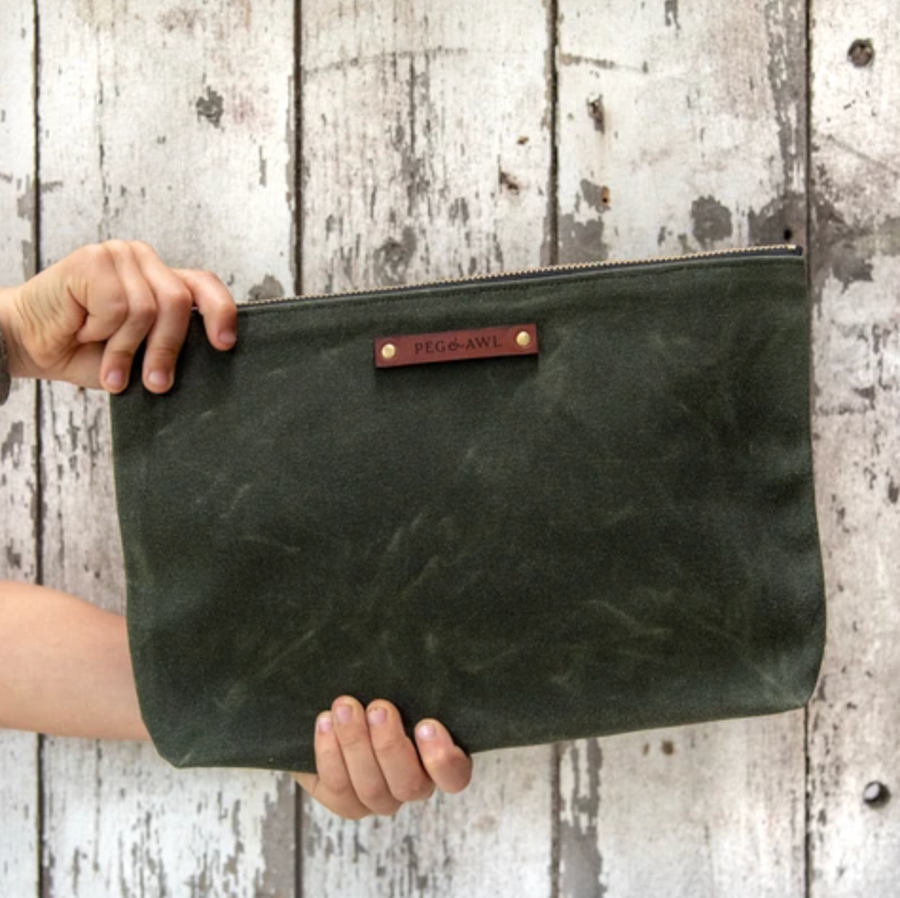 Waxed Canvas Maker Pouch