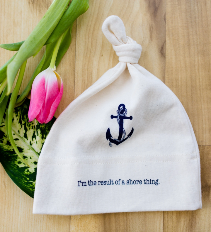 Organic Cotton Baby Hat - Anchor