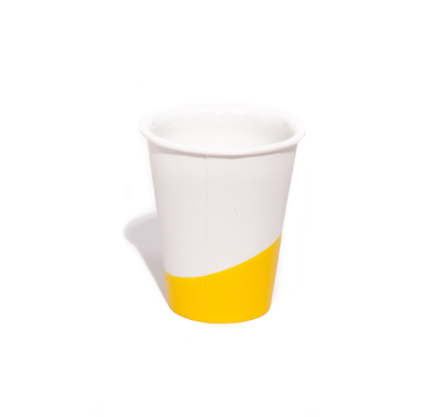 "Porcelain ""Paper Cup"" Dipped in Rubber - Yellow"