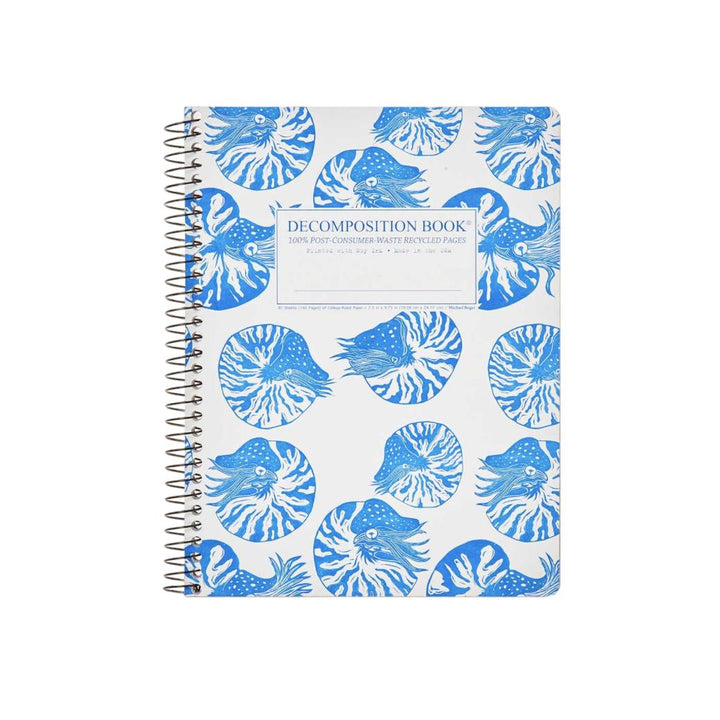 Coilbound Decomposition Lined Notebook - Nautilus