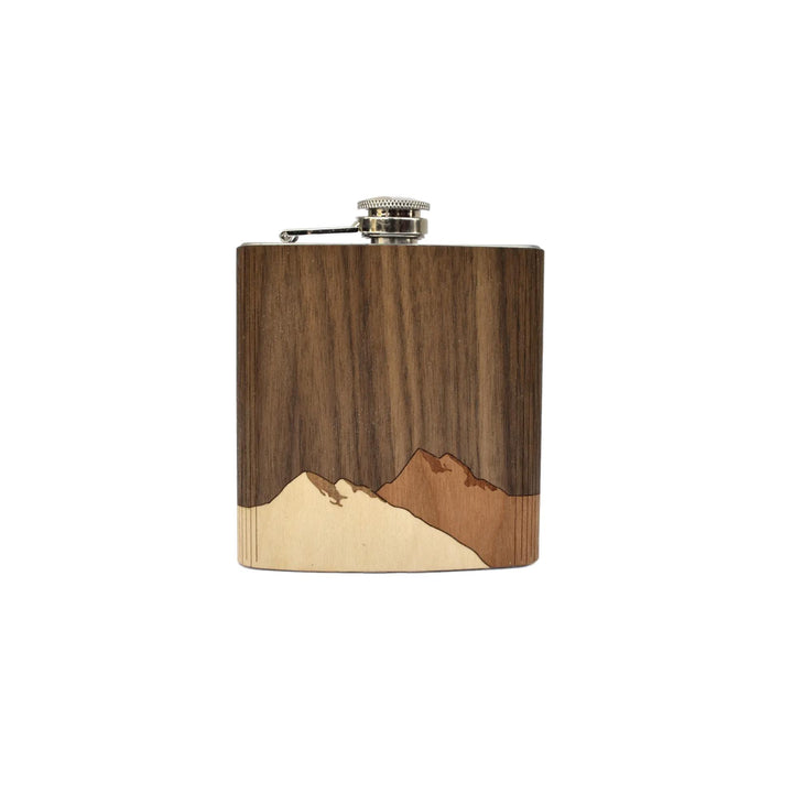 Wooden Flask - Mountain