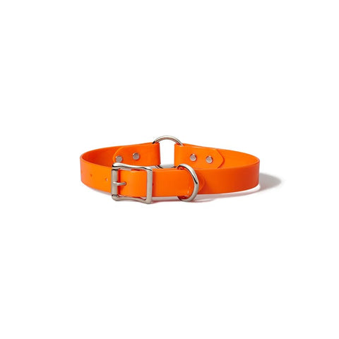 Filson Webbing Dog Collar Blaze Orange