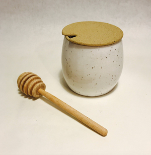 Ceramic Honey Jar & Dipper