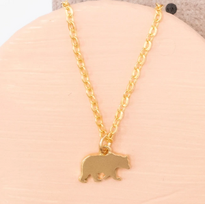 Bear Outline Necklace