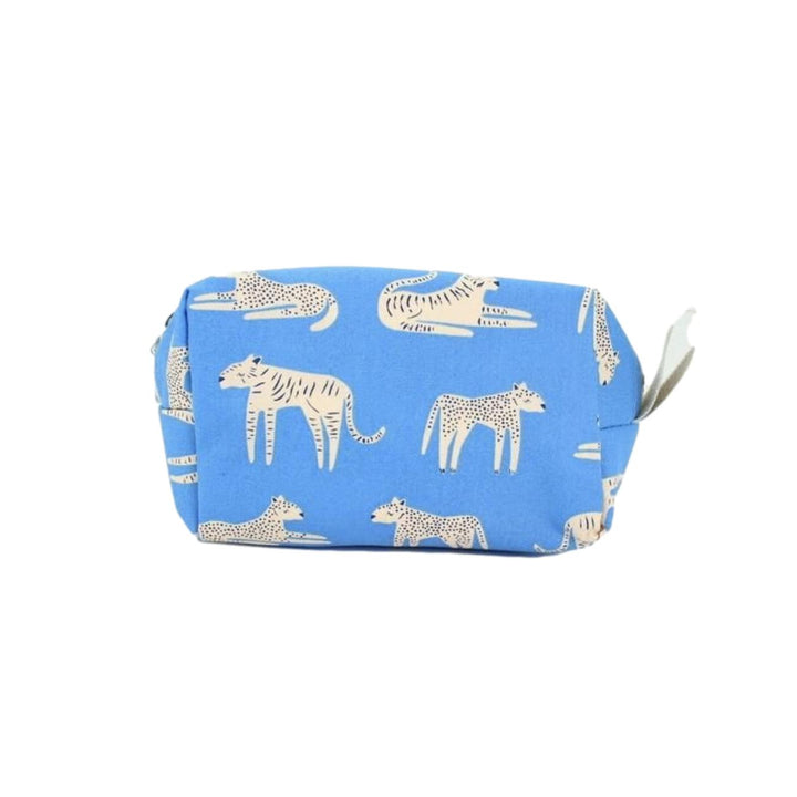 Mini Patterned Dopp Kit - Periwinkle Tigers