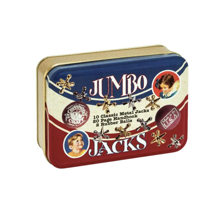 Jumbo Jacks in a Classic Toy Tin