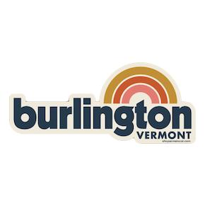 Rainbow Burlington Sticker