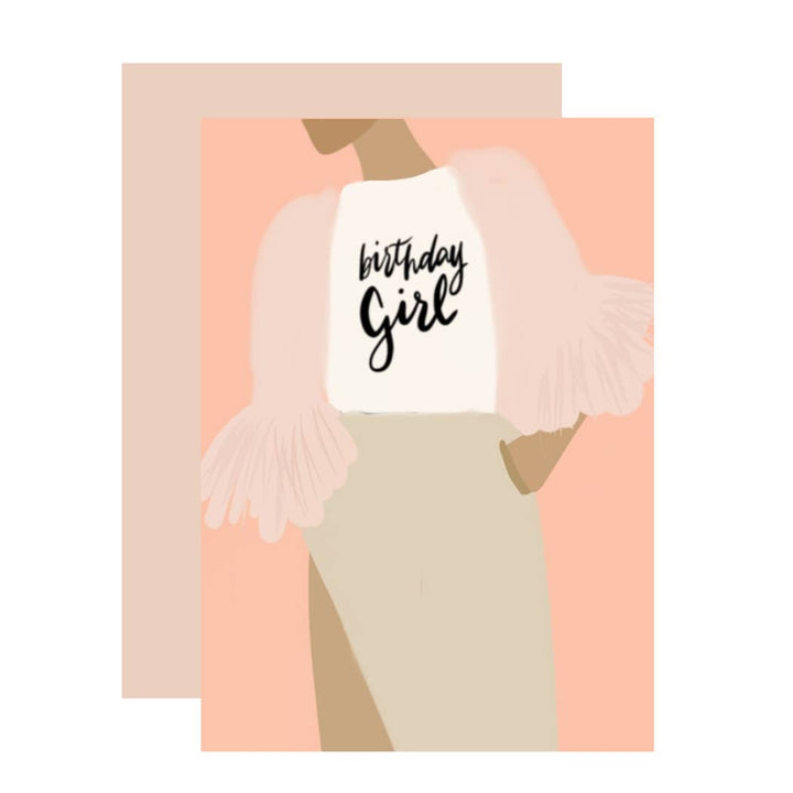 Birthday Girl T-shirt Card