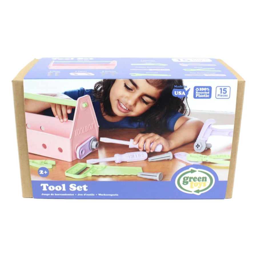 Eco-Friendly Toy Tool Set - Pink