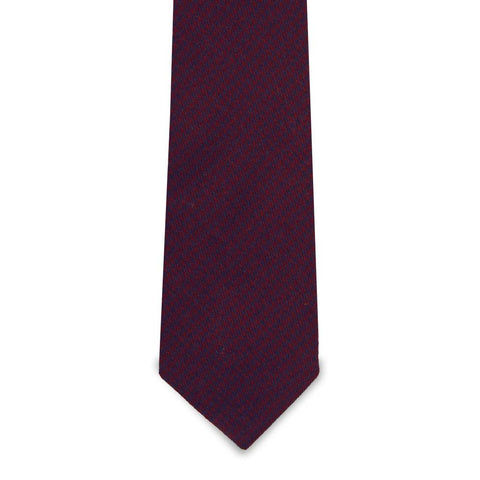The Norman - Maroon Wool Tie