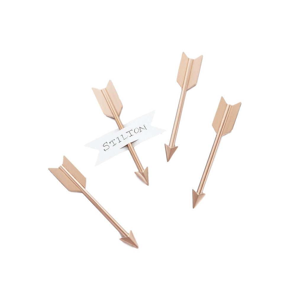 Brass Arrow Cheese Marker Set