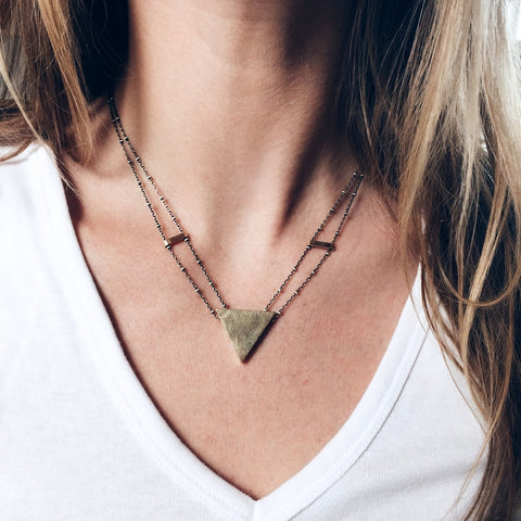 Rackk and Ruin Heron's Triangle Necklace