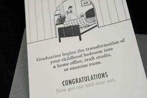 Get out and Stay Out Graduation Card - OB4