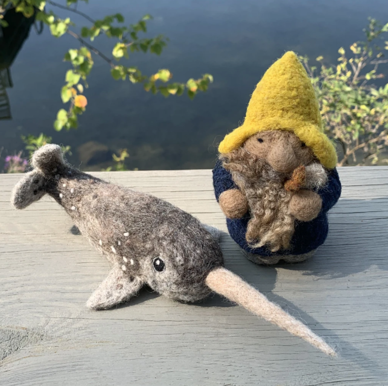 Narwhal DIY Felting Kit