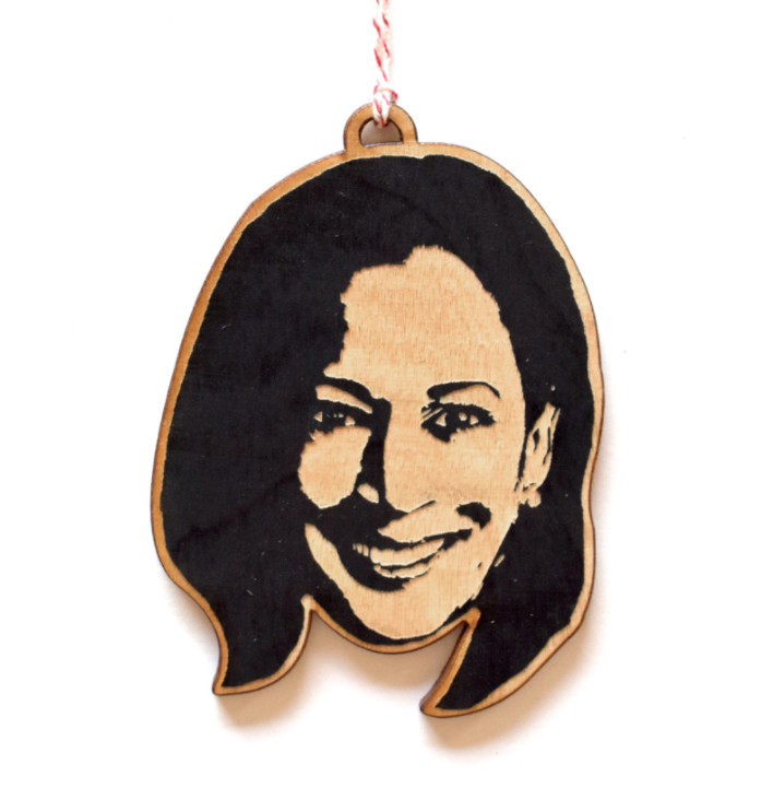 Famous Face Ornament - Kamala Harris