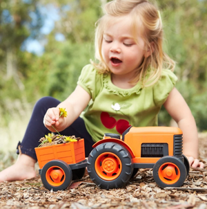 Eco-Friendly Toy Tractor - Orange