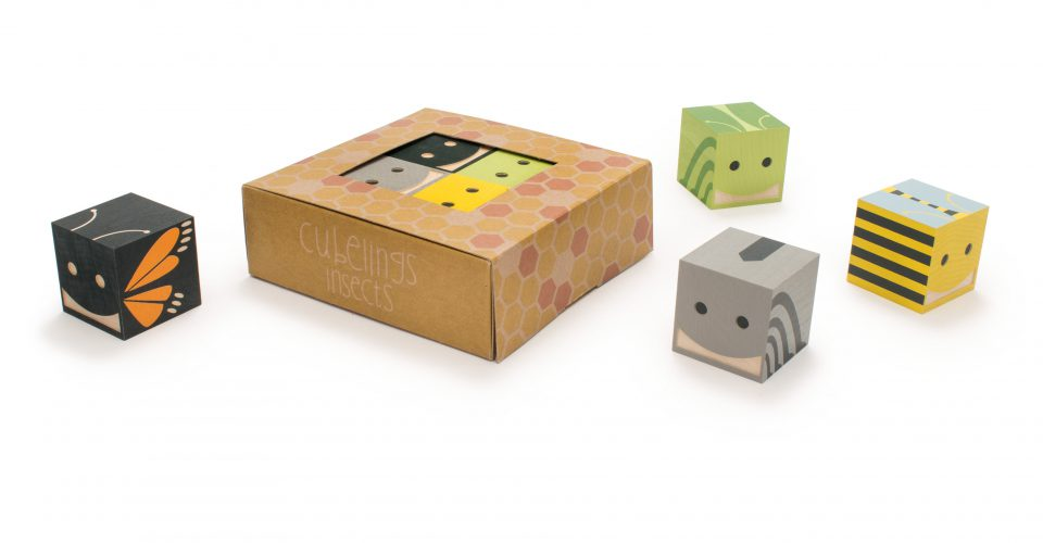 Cubelings Wooden Blocks -Insects