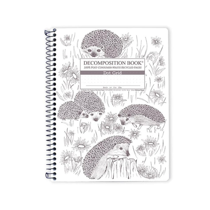 Coilbound Decomposition Dot Grid Notebook - Hedgehog