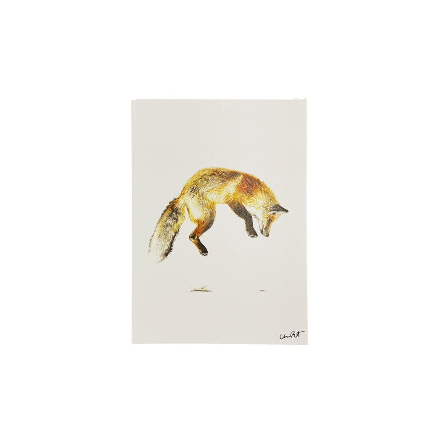 Jumping Fox Art Print - 5 x 7