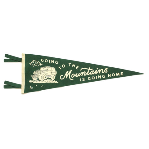 Going to the Mountains Wool Pennant