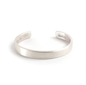 Thompson Cuff - Bright Brushed Sterling Silver Large